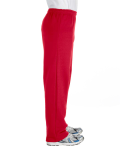 Red Heavy Blend™ 8 oz., 50/50 Open-Bottom Sweatpants as seen from the sleeveleft