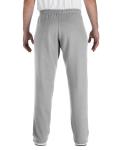 Sport Grey Heavy Blend™ 8 oz., 50/50 Open-Bottom Sweatpants as seen from the back