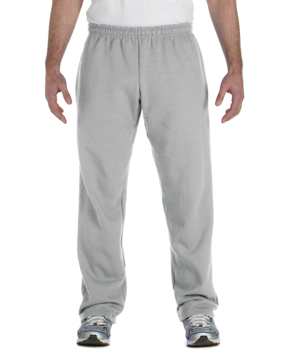Sport Grey Heavy Blend™ 8 oz., 50/50 Open-Bottom Sweatpants as seen from the front