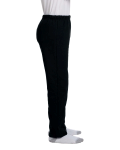 Black Heavy Blend™ Youth 8 oz., 50/50 Open-Bottom Sweatpants as seen from the sleeveleft