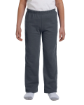 Charcoal Heavy Blend™ Youth 8 oz., 50/50 Open-Bottom Sweatpants as seen from the front