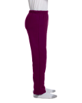 Maroon Heavy Blend™ Youth 8 oz., 50/50 Open-Bottom Sweatpants as seen from the sleeveleft