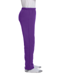 Purple Heavy Blend™ Youth 8 oz., 50/50 Open-Bottom Sweatpants as seen from the sleeveleft