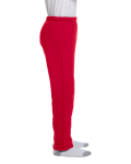 Red Heavy Blend™ Youth 8 oz., 50/50 Open-Bottom Sweatpants as seen from the sleeveleft