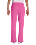 Azalea Heavy Blend™ Ladies' 8 oz., 50/50 Open-Bottom Sweatpants as seen from the back