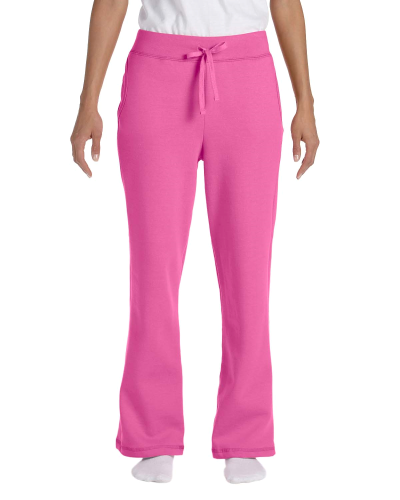 Azalea Heavy Blend™ Ladies' 8 oz., 50/50 Open-Bottom Sweatpants as seen from the front