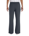 Charcoal Heavy Blend™ Ladies' 8 oz., 50/50 Open-Bottom Sweatpants as seen from the back