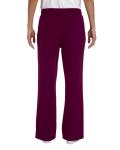 Maroon Heavy Blend™ Ladies' 8 oz., 50/50 Open-Bottom Sweatpants as seen from the back