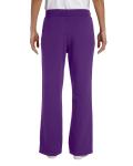 Purple Heavy Blend™ Ladies' 8 oz., 50/50 Open-Bottom Sweatpants as seen from the back