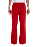 Red Heavy Blend™ Ladies' 8 oz., 50/50 Open-Bottom Sweatpants as seen from the back
