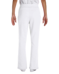 White Heavy Blend™ Ladies' 8 oz., 50/50 Open-Bottom Sweatpants as seen from the back