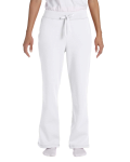White Heavy Blend™ Ladies' 8 oz., 50/50 Open-Bottom Sweatpants as seen from the front