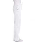 White Heavy Blend™ Ladies' 8 oz., 50/50 Open-Bottom Sweatpants as seen from the sleeveleft
