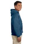 Indigo Blue 8 oz. Heavy Blend 50/50 Hood as seen from the sleeveleft