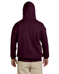 Maroon 8 oz. Heavy Blend 50/50 Hood as seen from the back