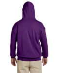 Purple 8 oz. Heavy Blend 50/50 Hood as seen from the back