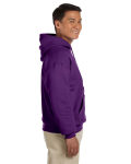 Purple 8 oz. Heavy Blend 50/50 Hood as seen from the sleeveleft