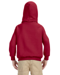 Cardinal Red Youth 8 oz. Heavy Blend 50/50 Hood as seen from the back