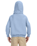 Light Blue Youth 8 oz. Heavy Blend 50/50 Hood as seen from the back