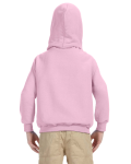Light Pink Youth 8 oz. Heavy Blend 50/50 Hood as seen from the back