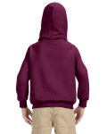 Maroon Youth 8 oz. Heavy Blend 50/50 Hood as seen from the back