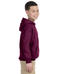 Maroon Youth 8 oz. Heavy Blend 50/50 Hood as seen from the sleeveleft
