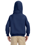 Navy Youth 8 oz. Heavy Blend 50/50 Hood as seen from the back