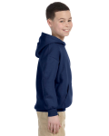 Navy Youth 8 oz. Heavy Blend 50/50 Hood as seen from the sleeveleft