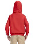 Red Youth 8 oz. Heavy Blend 50/50 Hood as seen from the back