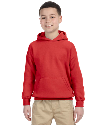 Red Youth 8 oz. Heavy Blend 50/50 Hood as seen from the front