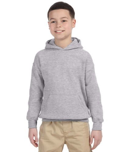 Sport Grey Youth 8 oz. Heavy Blend 50/50 Hood as seen from the front