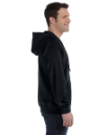 Black 8 oz. Heavy Blend 50/50 Full-Zip Hood as seen from the sleeveleft