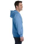 Carolina Blue 8 oz. Heavy Blend 50/50 Full-Zip Hood as seen from the sleeveleft