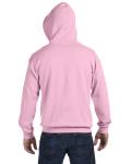 Light Pink 8 oz. Heavy Blend 50/50 Full-Zip Hood as seen from the back