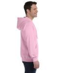 Light Pink 8 oz. Heavy Blend 50/50 Full-Zip Hood as seen from the sleeveleft