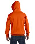 Orange 8 oz. Heavy Blend 50/50 Full-Zip Hood as seen from the back