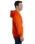 Orange 8 oz. Heavy Blend 50/50 Full-Zip Hood as seen from the sleeveleft