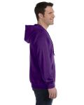 Purple 8 oz. Heavy Blend 50/50 Full-Zip Hood as seen from the sleeveleft