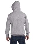 Sport Grey 8 oz. Heavy Blend 50/50 Full-Zip Hood as seen from the back