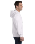 White 8 oz. Heavy Blend 50/50 Full-Zip Hood as seen from the sleeveleft
