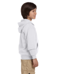 Ash Youth 8 oz. Heavy Blend 50/50 Full-Zip Hood as seen from the sleeveleft
