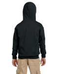 Black Youth 8 oz. Heavy Blend 50/50 Full-Zip Hood as seen from the back