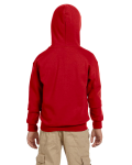 Red Youth 8 oz. Heavy Blend 50/50 Full-Zip Hood as seen from the back