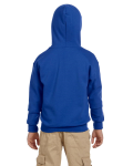 Royal Youth 8 oz. Heavy Blend 50/50 Full-Zip Hood as seen from the back