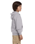 Sport Grey Youth 8 oz. Heavy Blend 50/50 Full-Zip Hood as seen from the sleeveleft