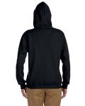Black Heavy Blend™ Ladies' 8 oz., 50/50 Full-Zip Hood as seen from the back