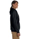 Black Heavy Blend™ Ladies' 8 oz., 50/50 Full-Zip Hood as seen from the sleeveleft
