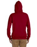 Cardinal Red Heavy Blend™ Ladies' 8 oz., 50/50 Full-Zip Hood as seen from the back