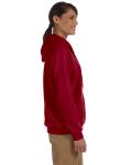 Cardinal Red Heavy Blend™ Ladies' 8 oz., 50/50 Full-Zip Hood as seen from the sleeveleft