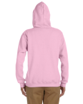 Light Pink Heavy Blend™ Ladies' 8 oz., 50/50 Full-Zip Hood as seen from the back